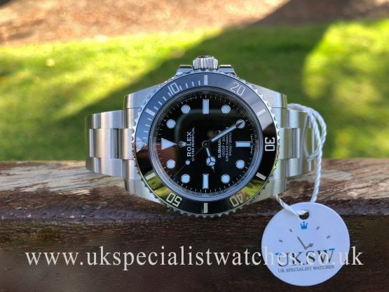rolex submariner non-date 114060 black and silver