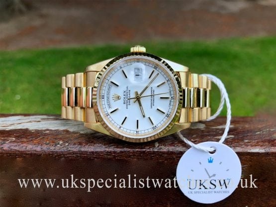 rolex day date president mens 18ct gold 18238
