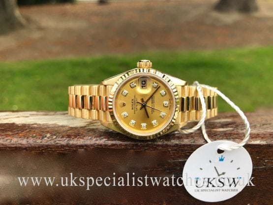 rolex lady date just gold 1993 69178