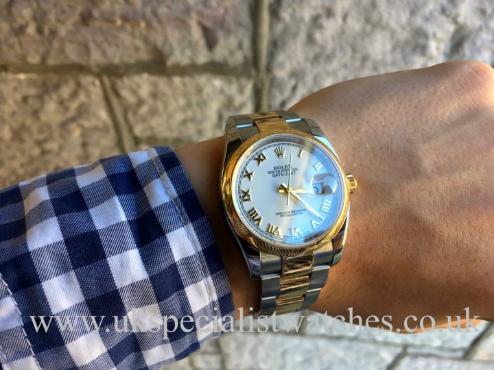ROLEX DATEJUST – 36MM – STEEL & 18CT YELLOW GOLD – 116203