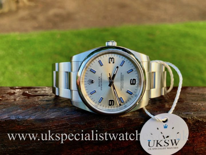ROLEX OYSTER PERPETUAL – SILVER DIAL – 114200