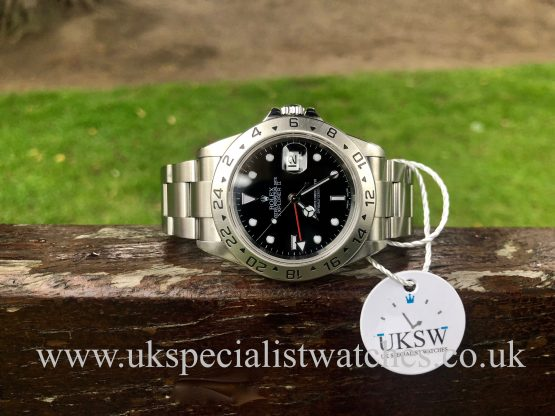ROLEX EXPLORER II STAINLESS STEEL – BLACK DIAL – 16570T