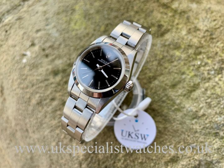ROLEX LADIES OYSTER PERPETUAL - STAINLESS STEEL - 76080