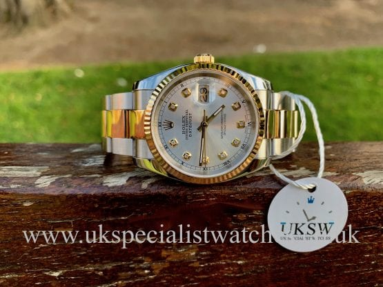 ROLEX DATEJUST GENTS – 36MM – STEEL & 18CT YELLOW GOLD – 116233