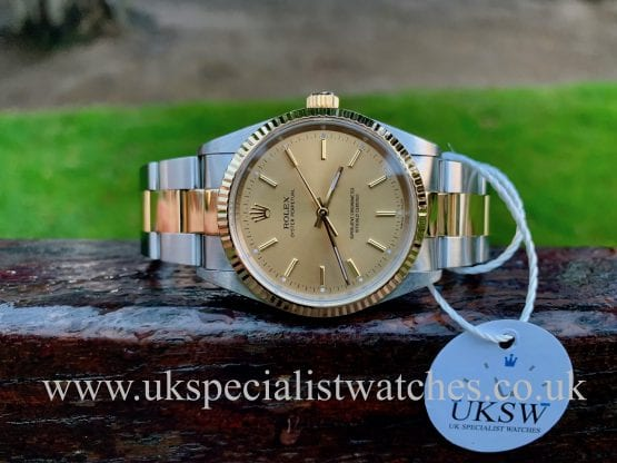 ROLEX OYSTER PERPETUAL - STEEL & 18CT YELLOW GOLD - 14233