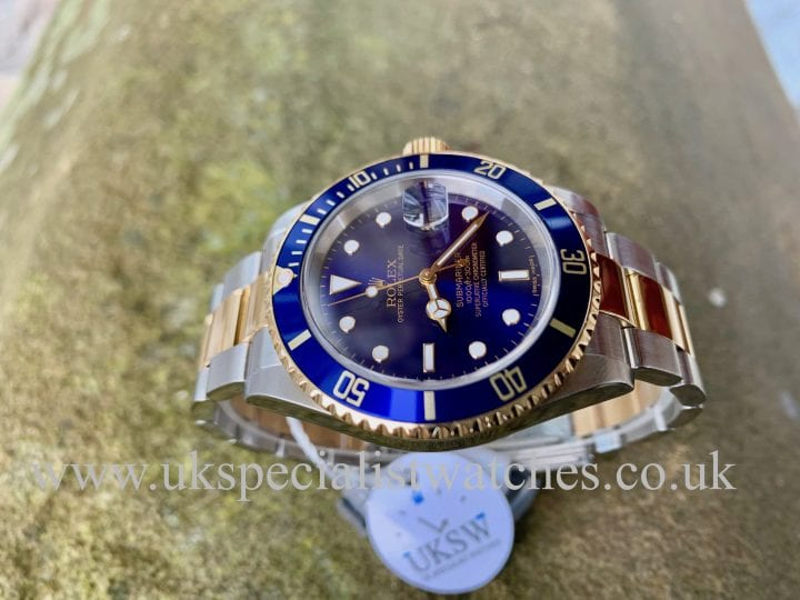 Rolex Submariner Date Blue Dial – Steel & Gold - 16613 - Full Set