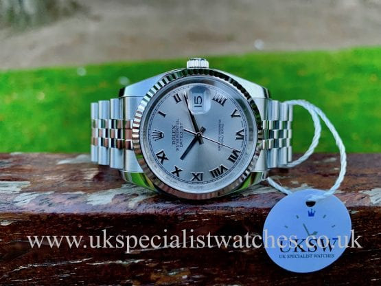 ROLEX DATEJUST GENTS – 36MM – STEEL – 116234