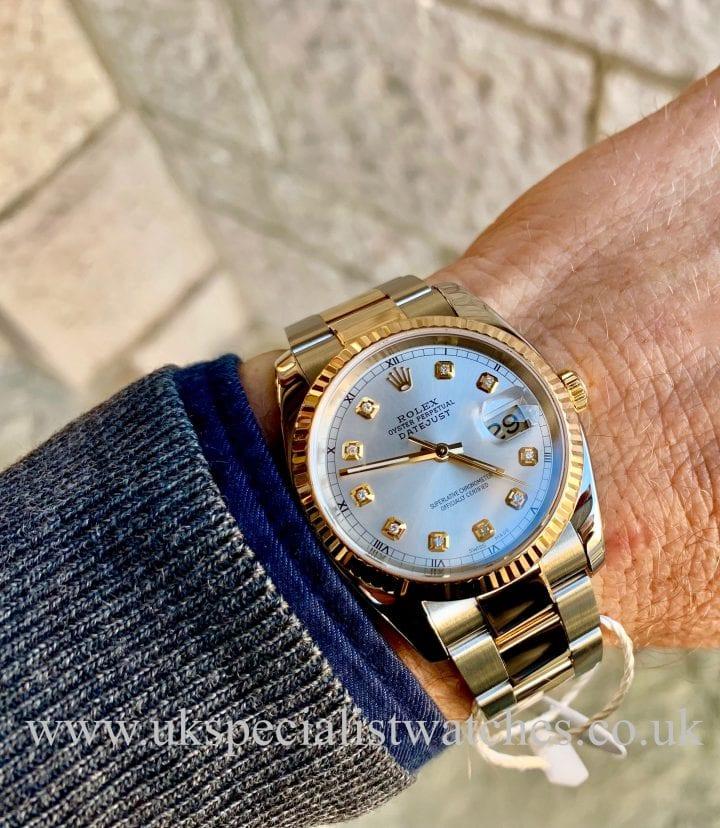 ROLEX DATEJUST GENTS – 36MM – STEEL & 18CT YELLOW GOLD – 116233