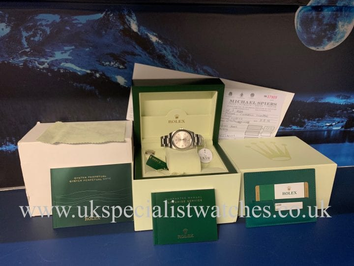 ROLEX OYSTER PERPETUAL AIR-KING – SILVER DIAL – 114200ROLEX OYSTER PERPETUAL AIR-KING – SILVER DIAL – 114200