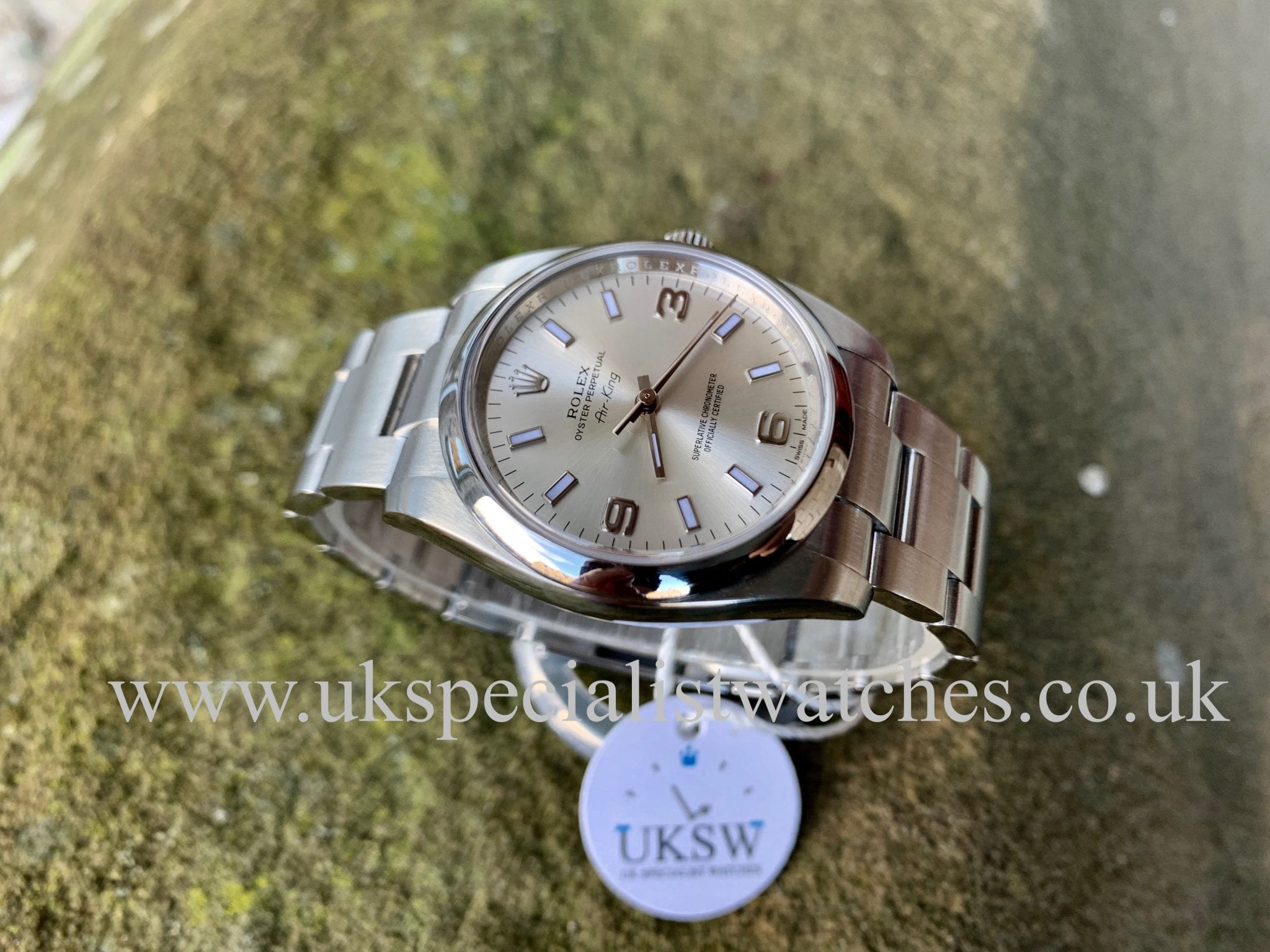 Rolex Oyster Perpetual Air King Silver Dial 114200