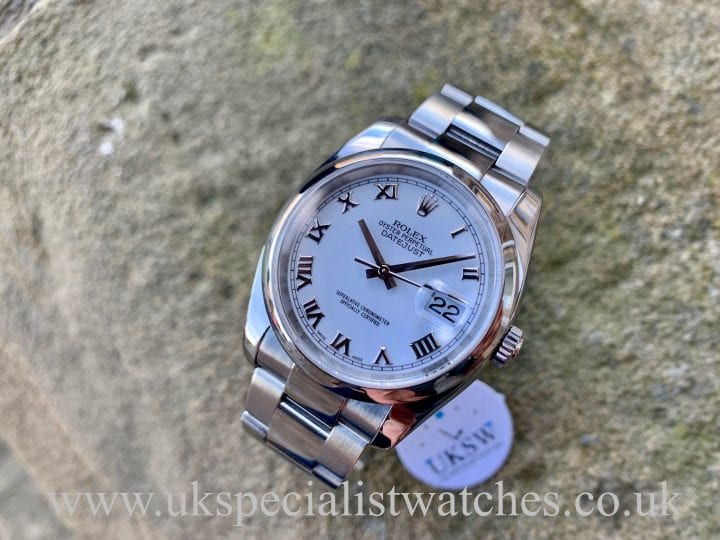 ROLEX OYSTER DATEJUST – STEEL – WHITE DIAL – 116200
