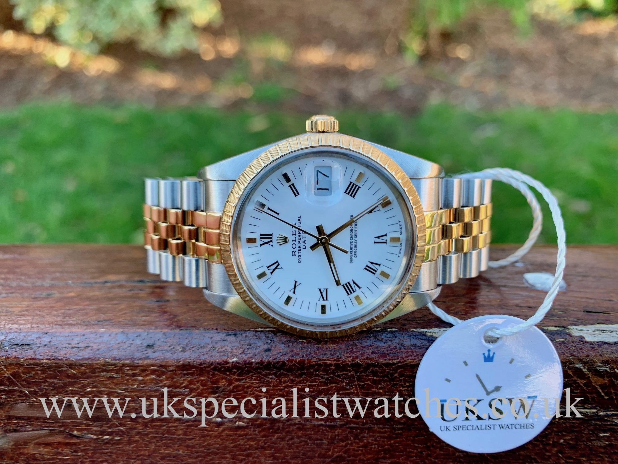 ROLEX OYSTER PERPETUAL DATE – STEEL & 18CT YELLOW GOLD – 15053