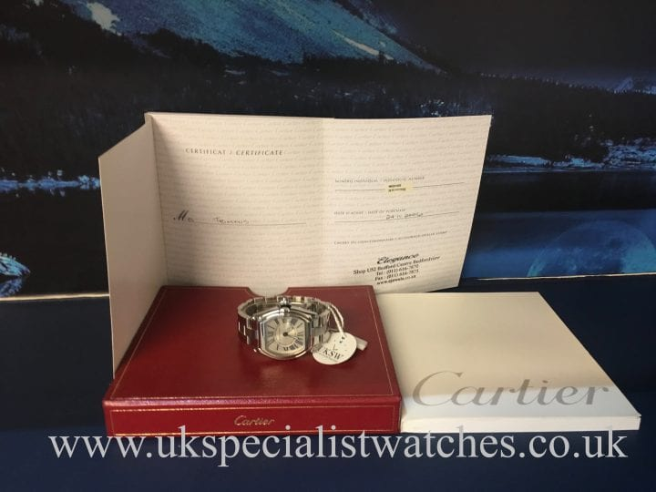 CARTIER ROADSTER LADIES STEEL – SILVER DIAL – W62016V3