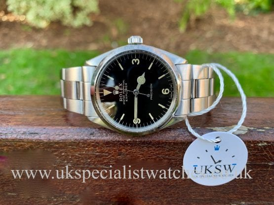 ROLEX EXPLORER – BLACK GLOSS GILT DIAL – 5500 – VINTAGE 1962