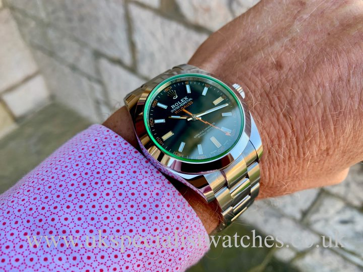 ROLEX MILGAUSS – GREEN GLASS – 40MM – 116400GV - UNWORN