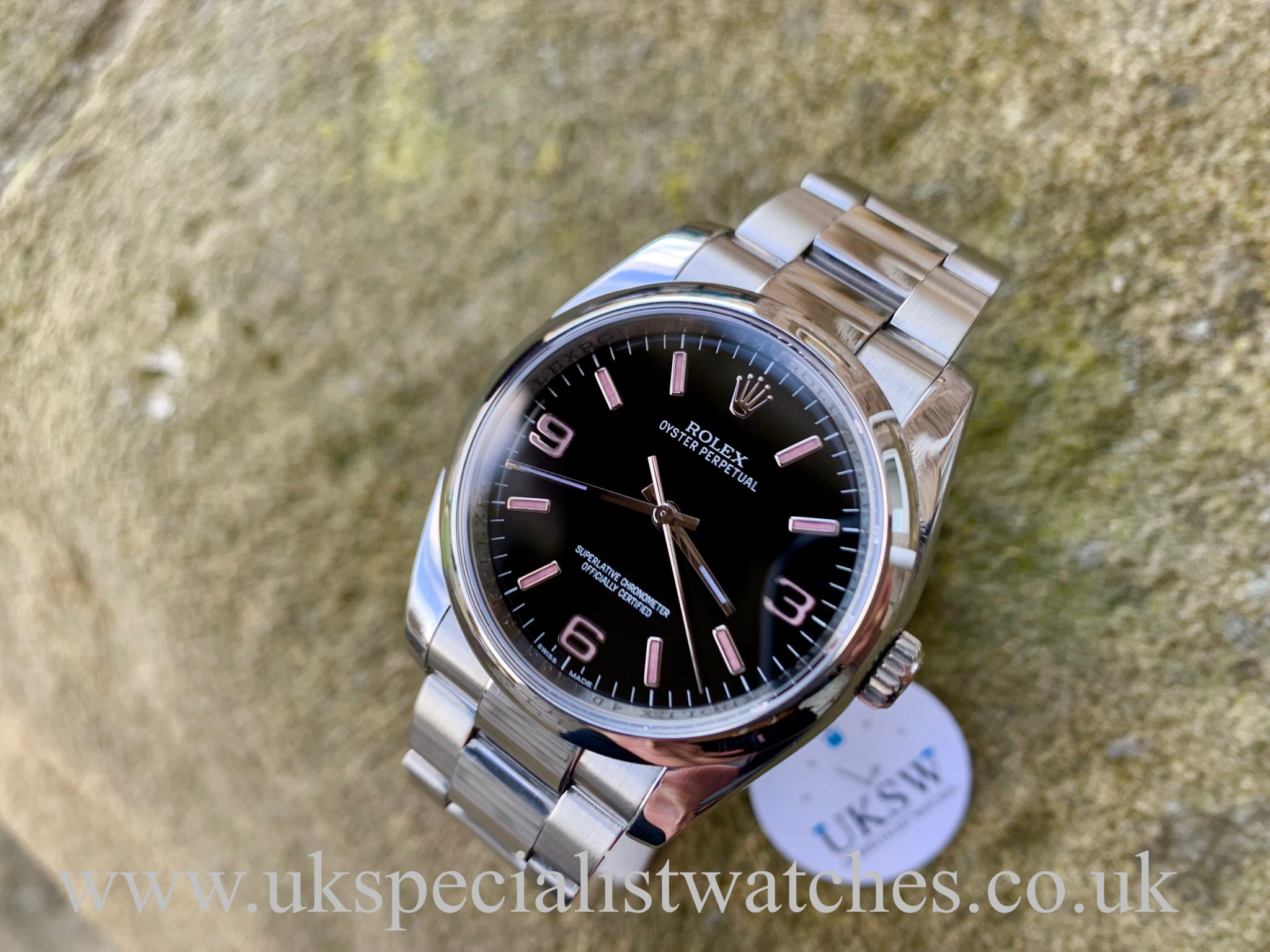 Rolex Oyster Perpetual 36mm Black Pink Dial 116000