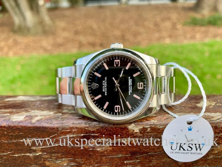 Rolex Oyster Perpetual 36mm - Black / Pink Dial - 116000