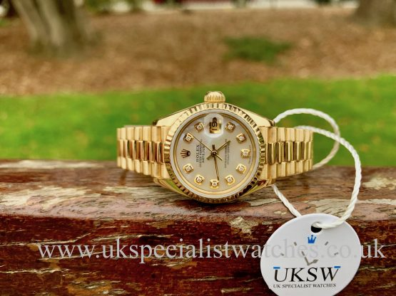 ROLEX LADY-DATEJUST PRESIDENT 18CT GOLD- MOP DIAL – 69178