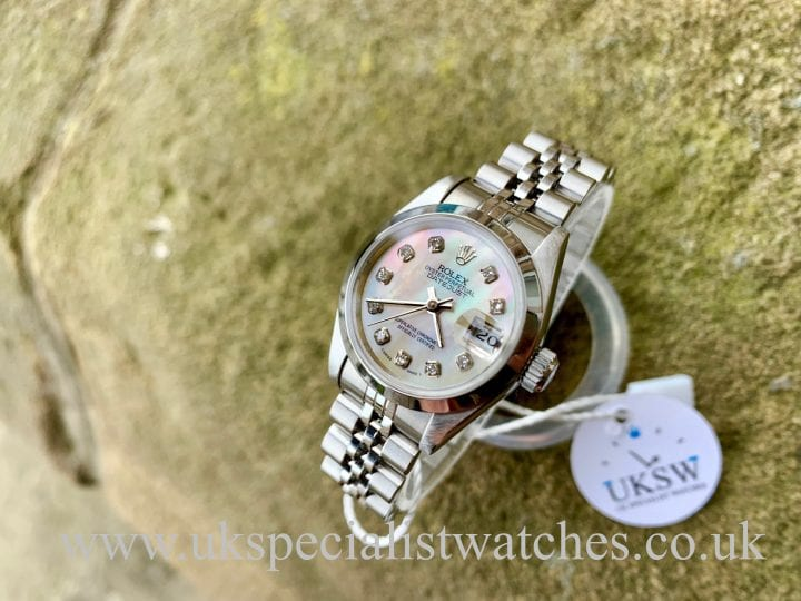 ROLEX LADIES DATEJUST – MOP DIAMOND DIAL - STEEL – 69160