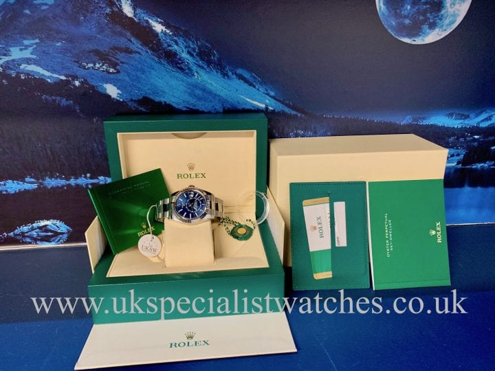 Rolex Sky-Dweller Stainless Steel – Blue Dial – 326934 - UNUSED