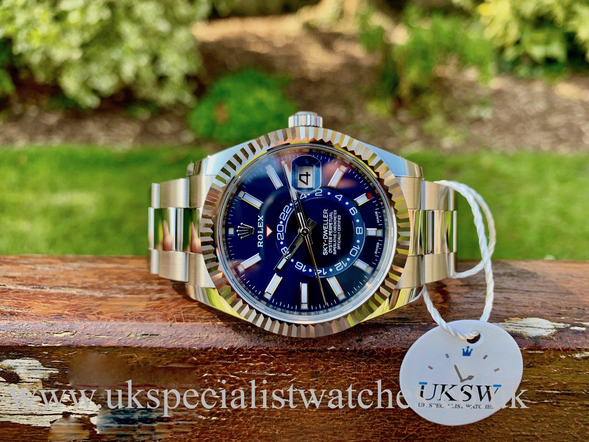 Rolex Sky-Dweller Stainless Steel – Blue Dial – 326934 - UNUSED