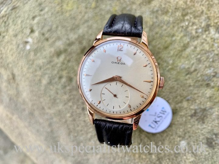 Omega Cal 265 Jumbo - 18ct Rose Gold - Vintage 1950s