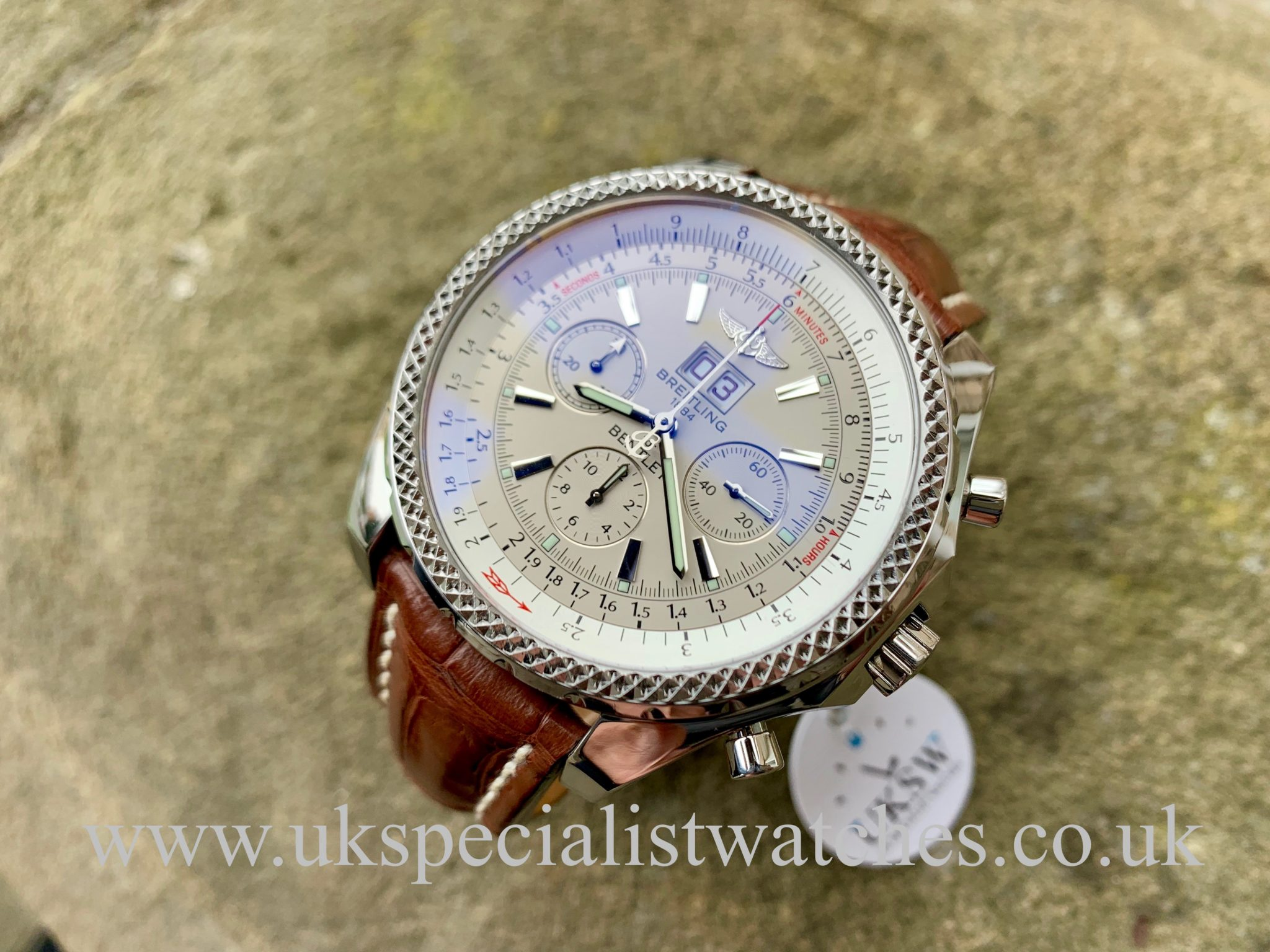 Breitling Bentley 6 75 Chronograph Stainless Steel A44362 Uk Specialist Watches