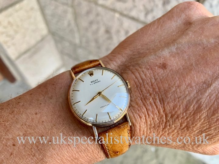 "ROLEX PRECISION - ""COIN EDGE"" – 9K GOLD – VINTAGE 1955"