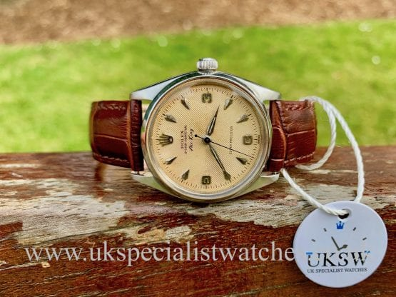 ROLEX AIR KING 5500 – HERRINGBONE SECTOR DIAL – VINTAGE 1958
