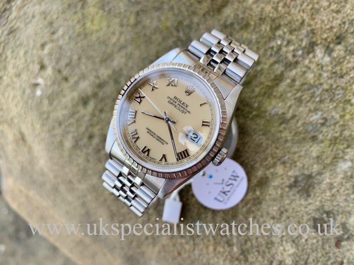 Rolex Datejust 36mm - Steel - Ivory / Cream Dial - 16220