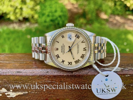 Rolex Datejust 36mm - Steel - Ivory / Cream Dial - 16220