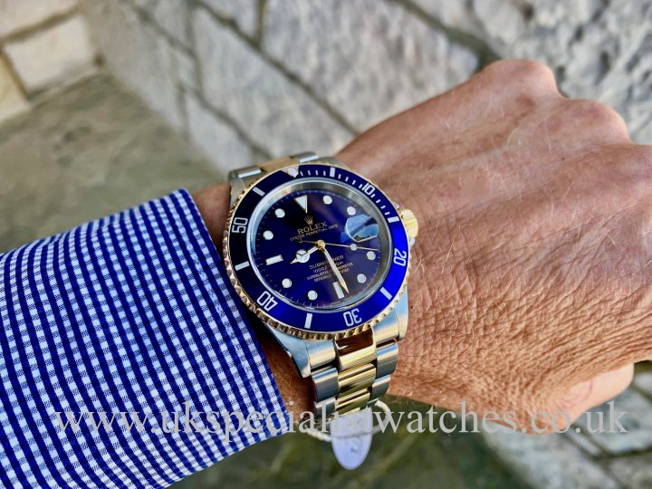 ROLEX SUBMARINER DATE BLUE DIAL – STEEL & GOLD – 16613 – FULL SET