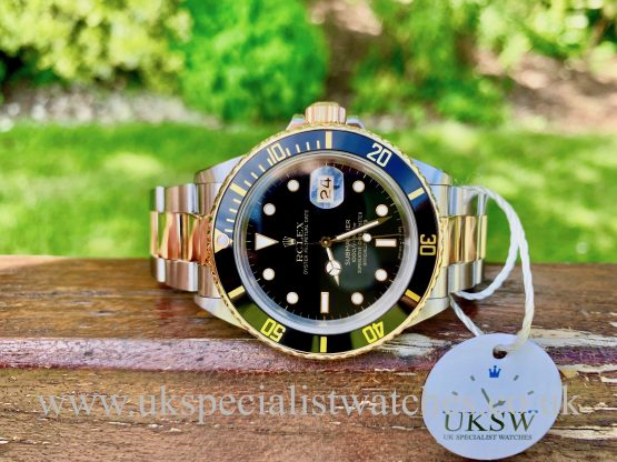 ROLEX SUBMARINER DATE BLACK DIAL – STEEL & GOLD – 16803 – FULL SET