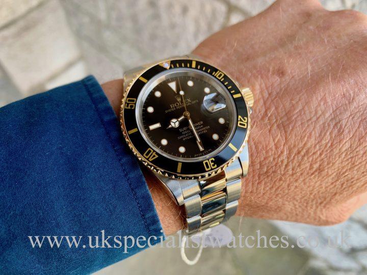 ROLEX SUBMARINER DATE BLACK DIAL – STEEL & GOLD – 16803 – FULL SET