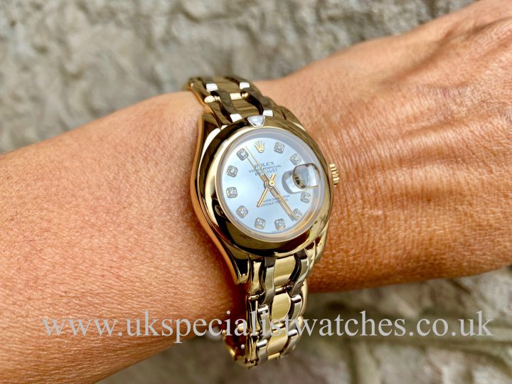 ROLEX PEARLMASTER LADIES - YELLOW & WHITE GOLD – 69328 / LC100