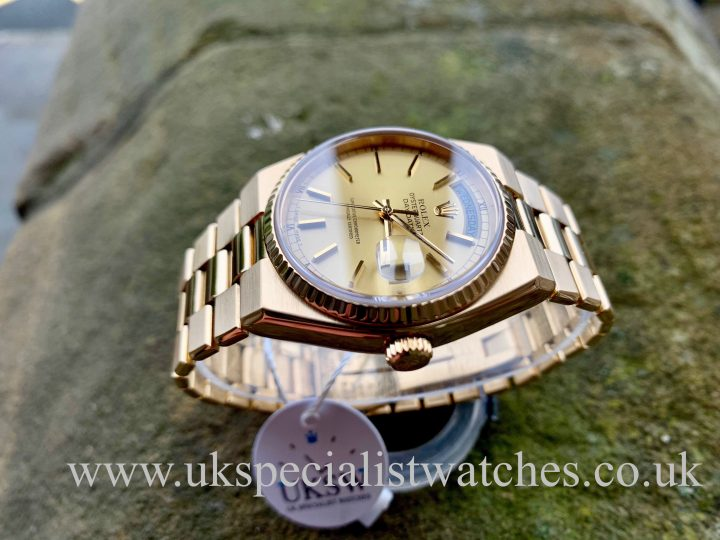ROLEX OYSTER-QUARTZ DAY-DATE 18CT GOLD – 19018 VINTAGE 1984