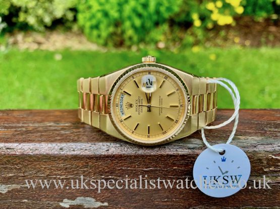 ROLEX OYSTER-QUARTZ DAY-DATE 18CT GOLD – 19018 VINTAGE 1984