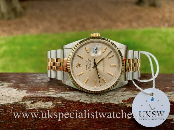 ROLEX DATEJUST 18CT GOLD & STEEL – SILVER DIAL – 16233