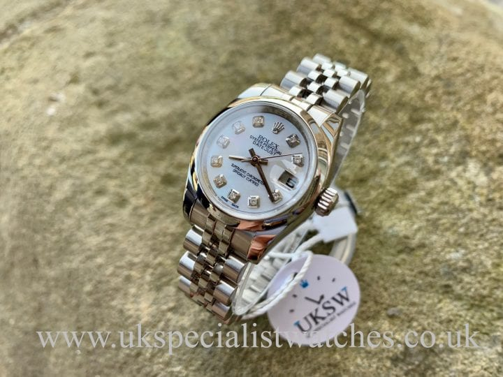 ROLEX LADY-DATEJUST – STEEL – MOP DIAMOND DIAL - 179160