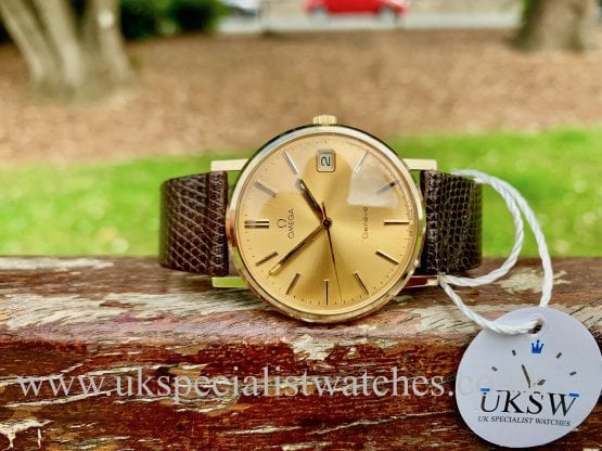 OMEGA 132 9CT YELLOW GOLD DRESS WATCH – FULL SET - VINTAGE 1982