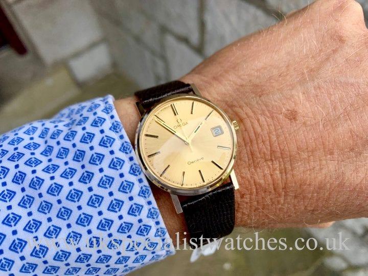 OMEGA 132 9CT YELLOW GOLD DRESS WATCH – FULL SET - VINTAGE 1982