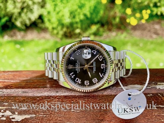 ROLEX DATEJUST GENTS – 36MM – CONCENTRIC DIAL -116234