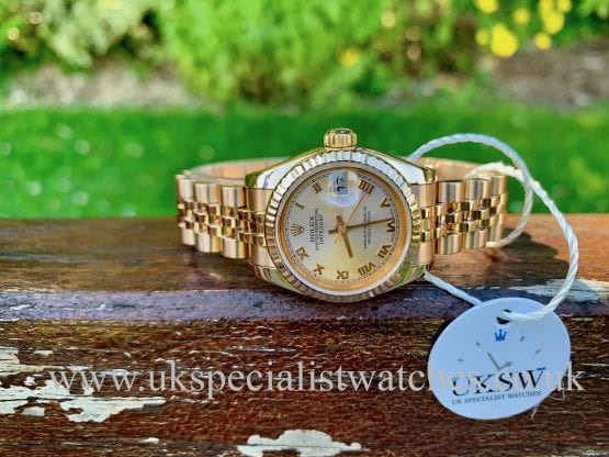 Rolex Datejust Ladies 18ct Rose Gold – Pink Dial – 179175