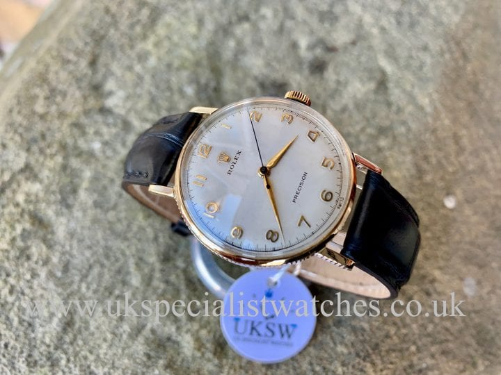 "ROLEX PRECISION ""COIN EDGE"" – 9K GOLD – VINTAGE 1959"