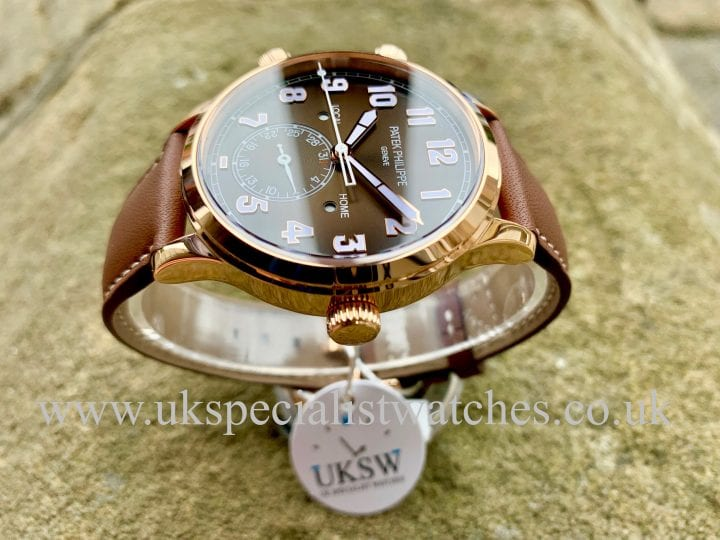 PATEK PHILIPPE TRAVEL TIME PILOT CALATRAVA – 18CT ROSE GOLD – 5524R-001 - NEW