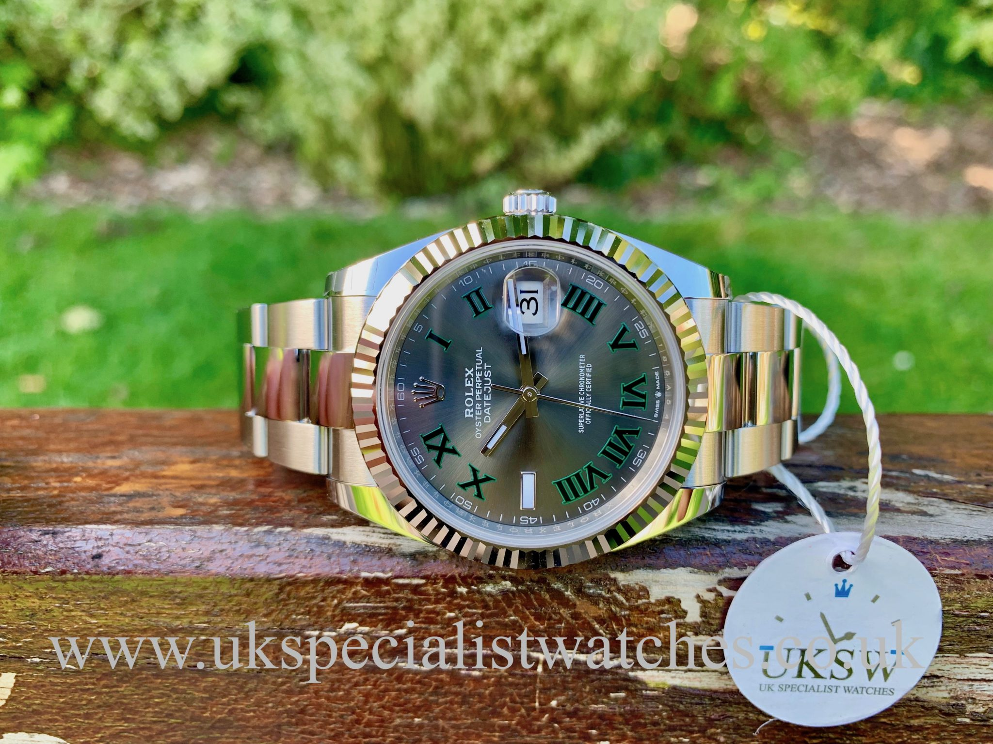 ROLEX DATEJUST II STEEL – 41MM – WIMBLEDON DIAL – 126334 - 2020