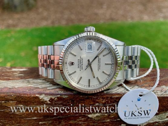 ROLEX DATEJUST 16014 – TAPESTRY / PINSTRIPE DIAL – STEEL – VINTAGE 1986