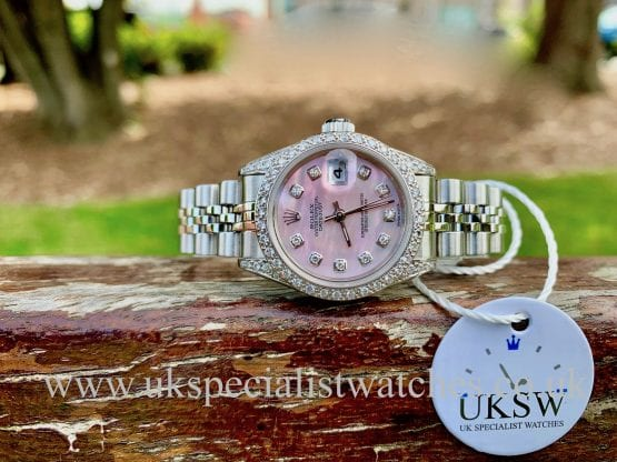 ROLEX DATEJUST LADIES - 69174 - STEEL - DIAMOND SET
