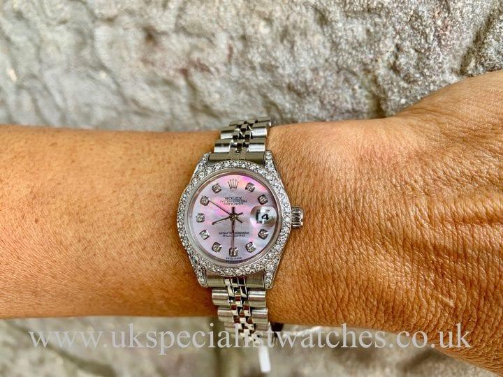 ROLEX DATEJUST LADIES - 69174 - STEEL - DIAMOND SET