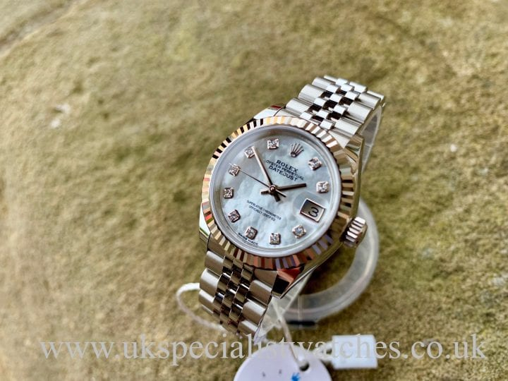 ROLEX LADY DATEJUST 28MM – STEEL – MOP DIAMOND DIAL – 279174